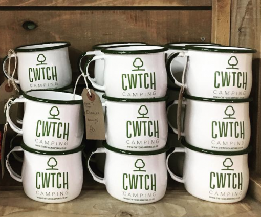 Cwtch Camping Enamel Mugs